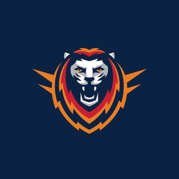 Sport lion design illustratie vector sjabloon Premium Vector