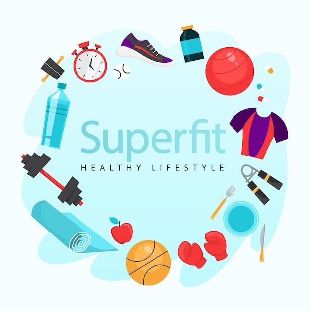 Sport oefening. tijd voor fitness en training Premium Vector
