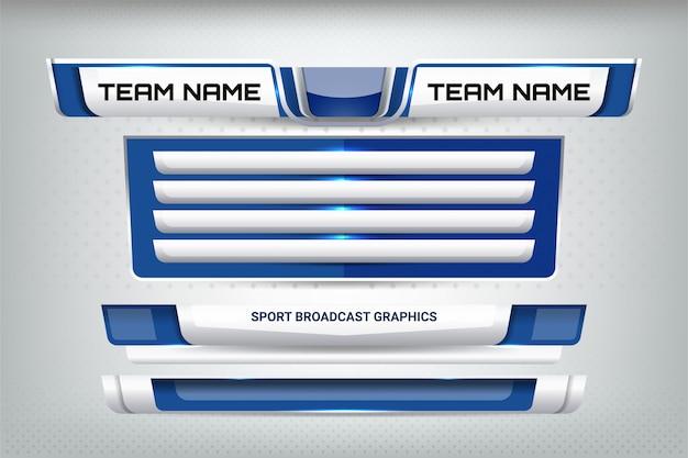 Sport scoreboard broadcast en lower thirds Premium Vector