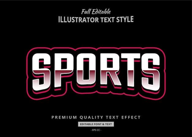 Sport tekststijl effect premium Premium Vector