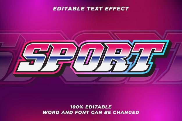 Sport tekststijl effect Premium Vector