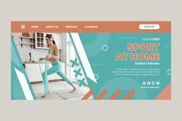 Sport thuis bestemmingspagina Gratis Vector