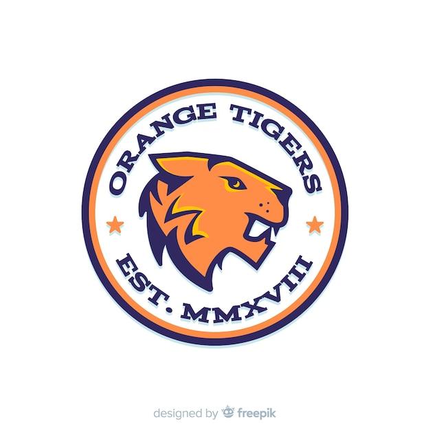 Sport tijger logo sjabloon Gratis Vector