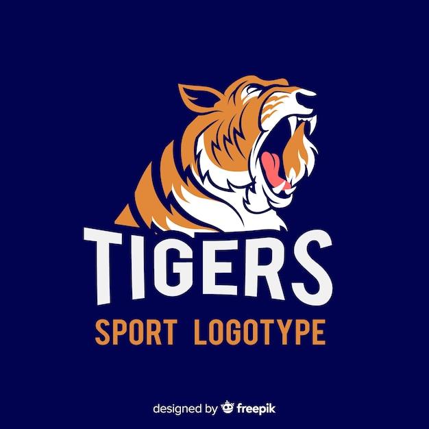 Sport tijger logo Gratis Vector