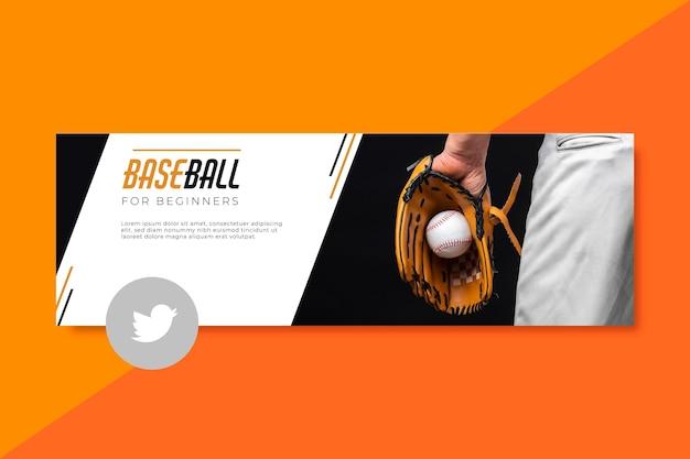 Sport twitter header-sjabloon Gratis Vector