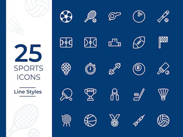 Sport vector pictogram Premium Vector