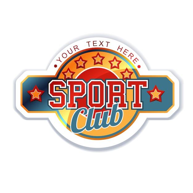 Sport vereniging Premium Vector
