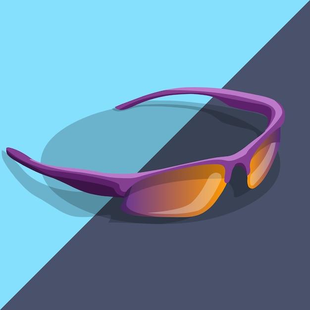 Sport zonnebril gepolariseerd Premium Vector