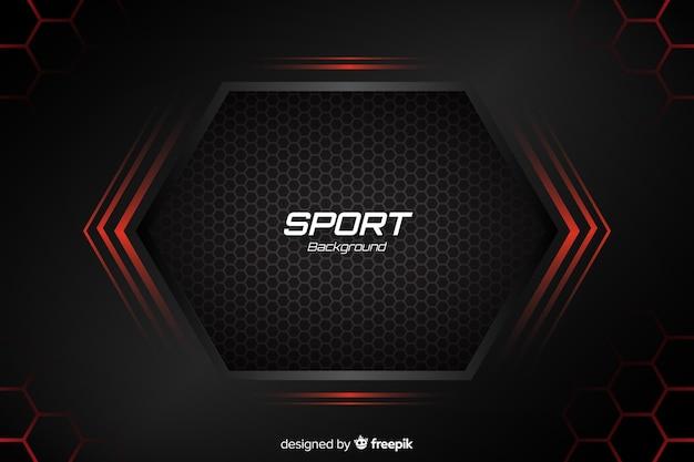Sportachtergrond met abstracte vormen Gratis Vector