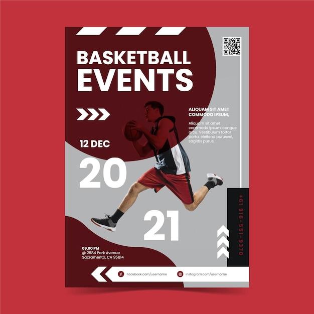 Sportevenement poster sjabloon Gratis Vector