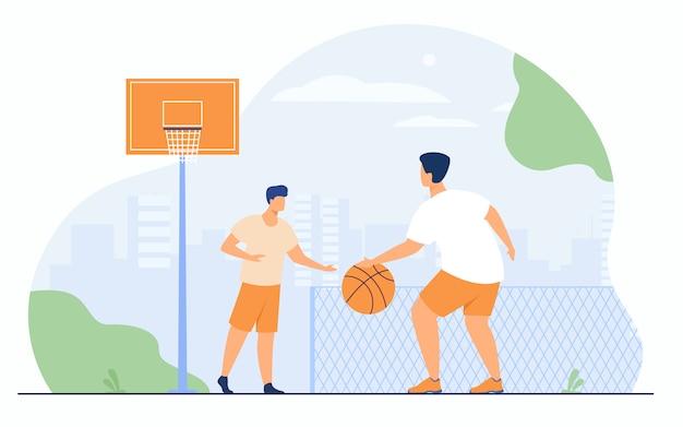 Sportgames buitenshuis concept Gratis Vector