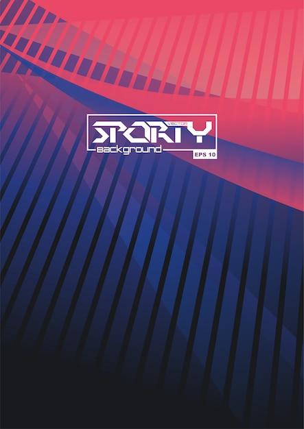 Sportieve abstracte achtergrond Premium Vector