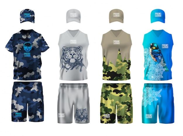 Sportkleding decorontwerpsjabloon Premium Vector