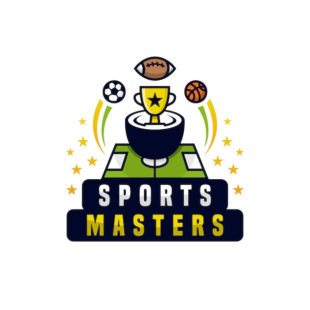 Sports masters championship-logo Premium Vector