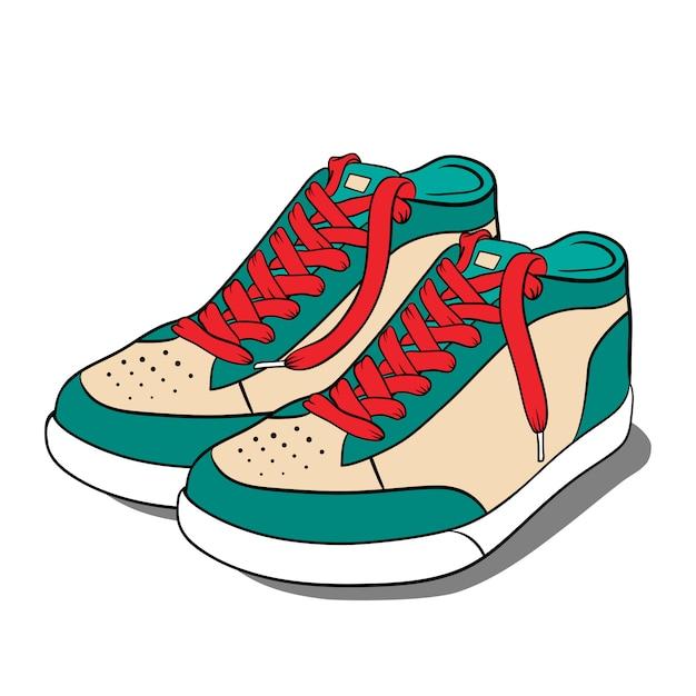 Sportschoenen, sneakers. Premium Vector