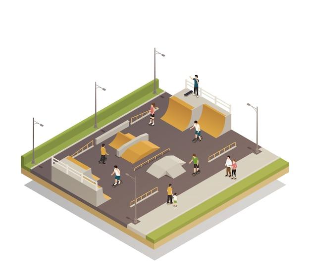 Sportveld voor eco-rijden Gratis Vector