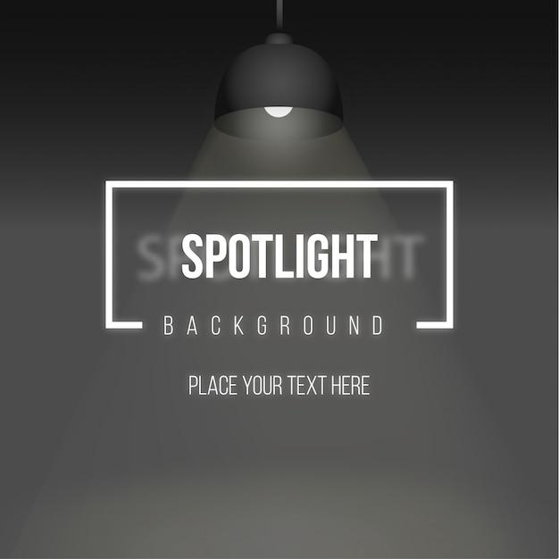 Spotlight achtergrond met realistische lamp Gratis Vector