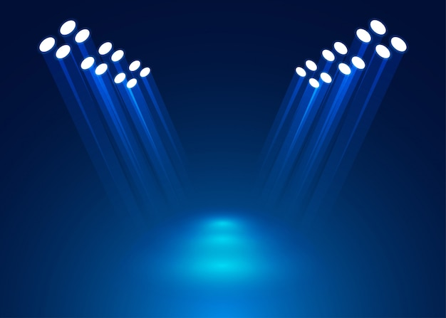 Spotlight op het podium aansteken Premium Vector