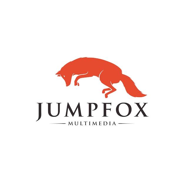Springend fox-logo Premium Vector