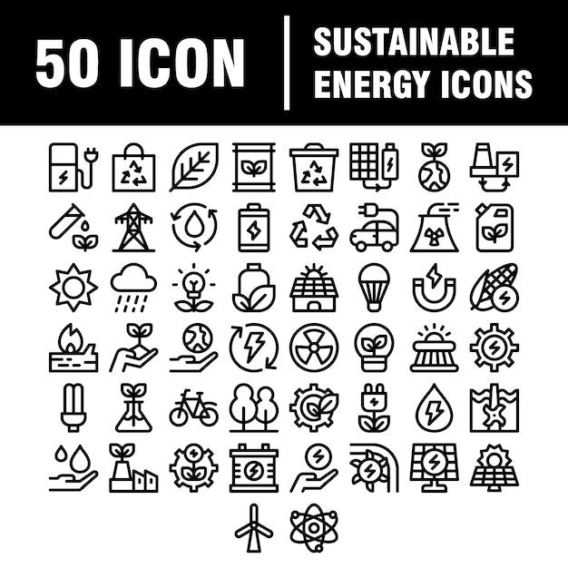 Ss-sjabloon uploaden eenvoudige set eco-gerelateerde lijnpictogrammen. bevat pictogrammen zoals elektrische auto's, opwarming van de aarde, bos, biologische landbouw en meer. beroerte. Premium Vector