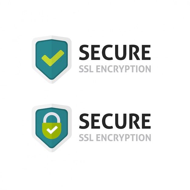 Ssl-certificaat of beveiligd coderingsschermsymbool Premium Vector