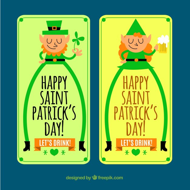 St Patrick's karakter banners Gratis Vector
