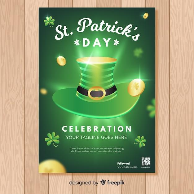 St. patrick's dag flyer teplate Gratis Vector