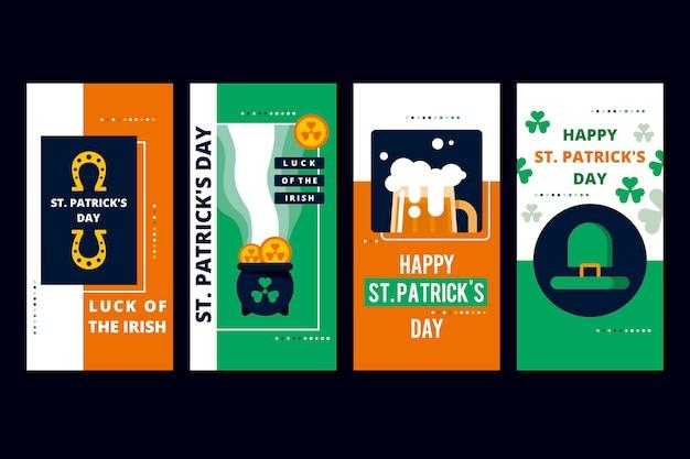 St. patrick's dag sociale media verhalen voor instagram Gratis Vector