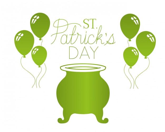 St Patrick `s dagetiket geïsoleerd pictogram Premium Vector