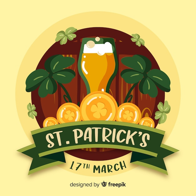 St. patrick's day achtergrond Gratis Vector