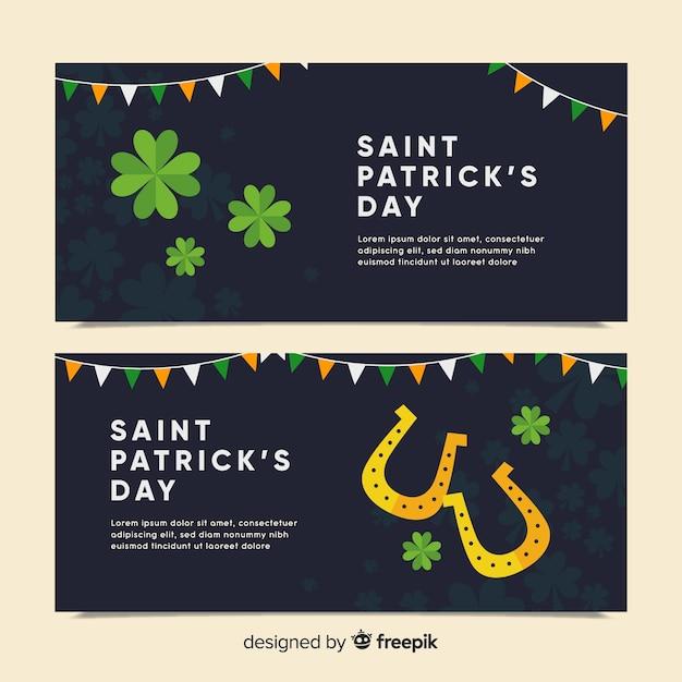 St patrick's day banner set Gratis Vector