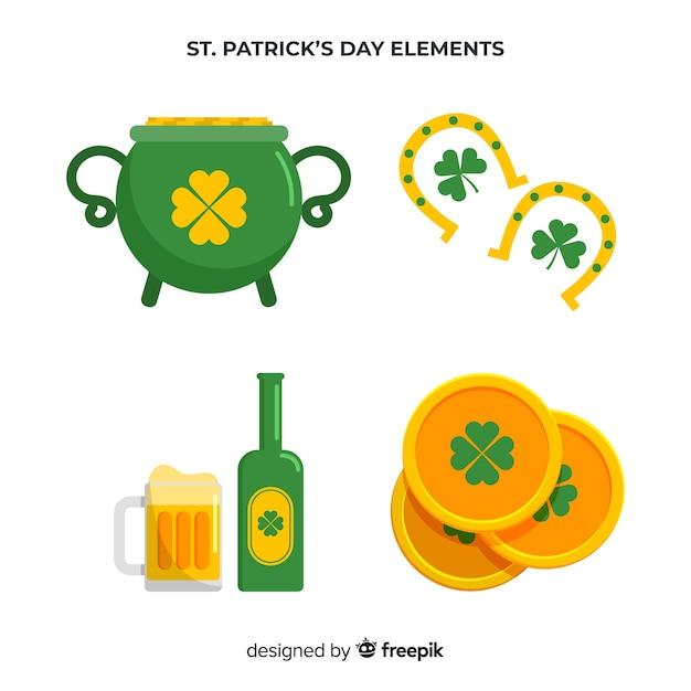 St. patrick's day element collectie Gratis Vector
