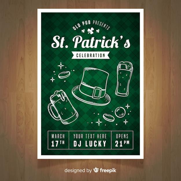 St. patrick's day flyer partij sjabloon Gratis Vector
