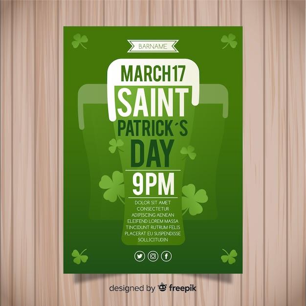 St. patrick's day flyer sjabloon Gratis Vector