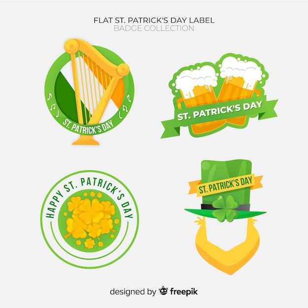 St. patrick's day labelcollectie Gratis Vector