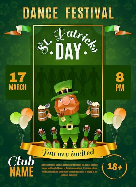 St patrick's day-poster Gratis Vector