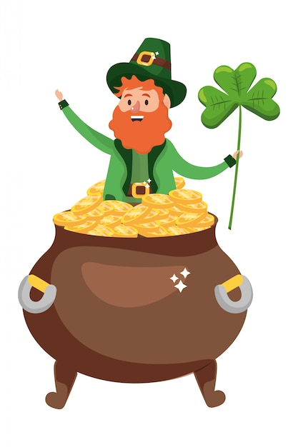 St patricks dag cartoon Premium Vector