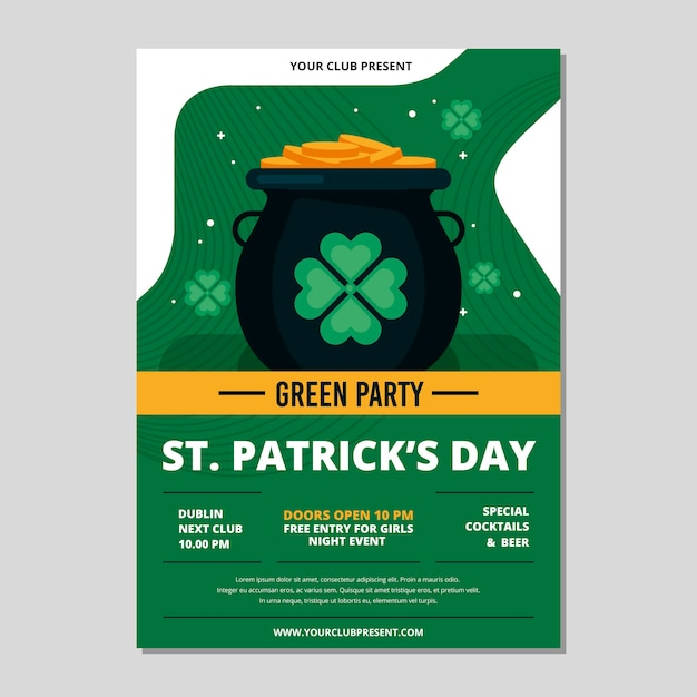 St. patricks dag folder sjabloon Gratis Vector