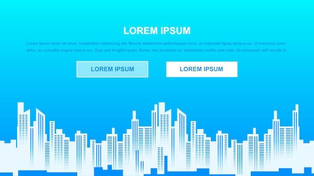 Stad achtergrond vectorillustratie Premium Vector