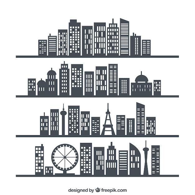Stad skylines Gratis Vector