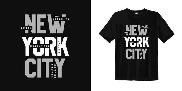 Stadsdeel van new york city usa. t-shirt ontwerp typografie urban style wear Premium Vector