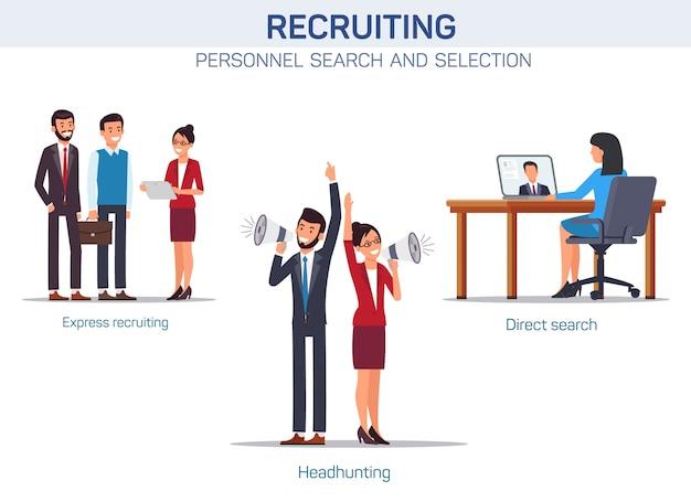 Staff selection methods Premium Vector