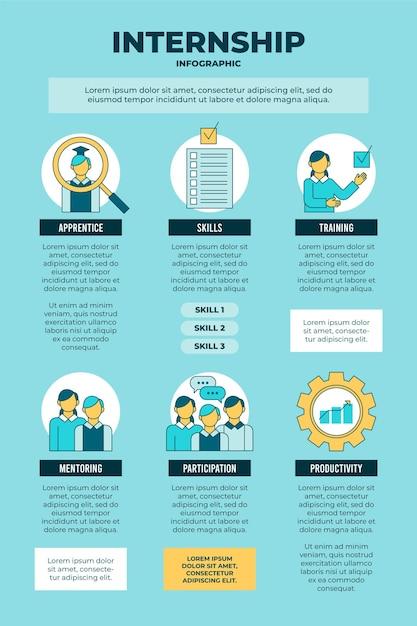 Stage opleiding infographic Gratis Vector