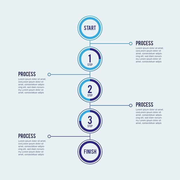 Stap voor stap infographic Gratis Vector
