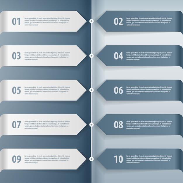 Stap voor stap infographics illustratie. Premium Vector