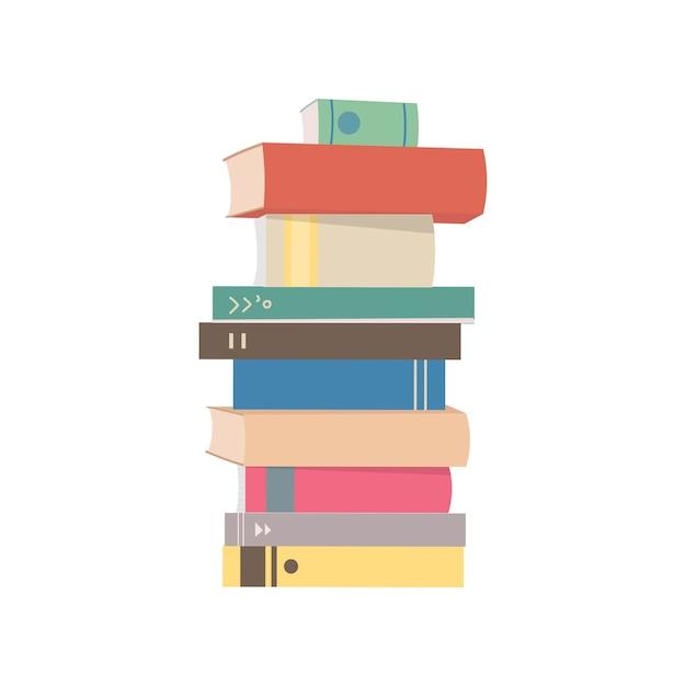 Stapel van boeken grafische illustratie Gratis Vector