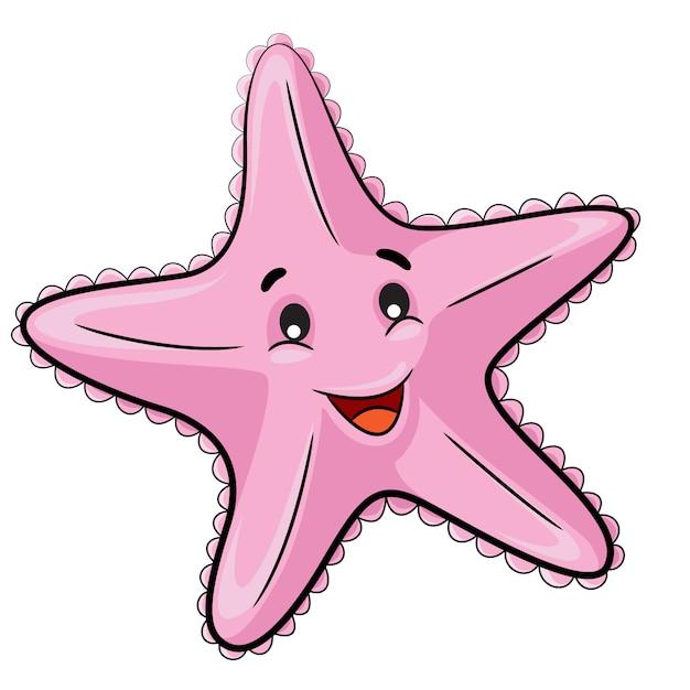 Starfish cartoon Premium Vector