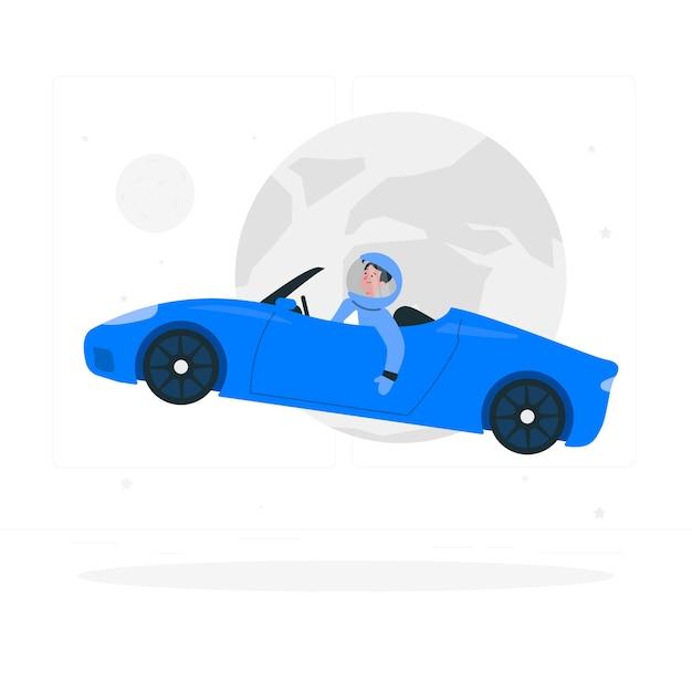 Starman concept illustratie Gratis Vector