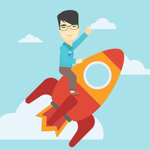 Start bedrijfs vectorillustratie. Premium Vector