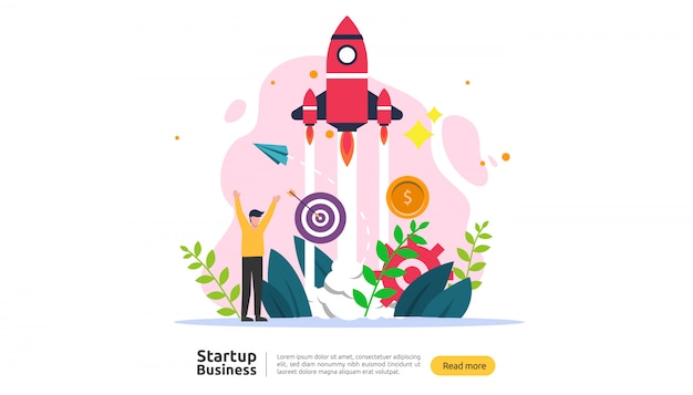 Start idee concept Premium Vector
